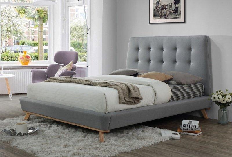 9e9696f2fbda Čalouněná postel DONA 160x200 šedá - Manželské postele