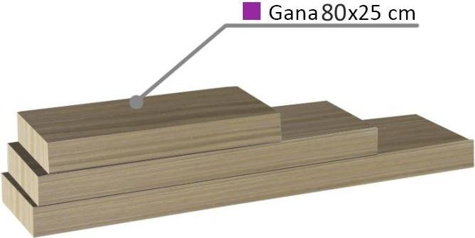 Police, dub pískový, 80x25, GANA