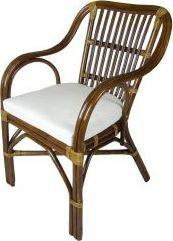 Ratanová jídelní židle AKROPOLIS, tmavá J001Tb